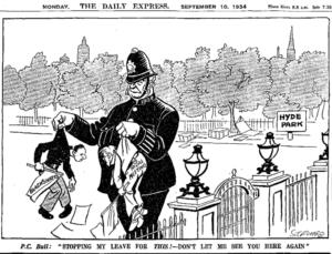 Fascismo e estremismo di sinistra visti dal moderato Daily Express (1934)