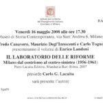 laboratorio delle riforme 2008