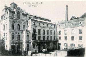 21- La Maision du Peuple di rue du Gymnase a Verviers, costruita nel 1896 dalla cooperativa Meunerire et Boulangerie e riascquistata nel 1907 da una società cooperativa