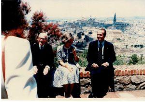 Toledo. Con il re Juan Carlos e la consorte, la regina Sofia, per una colazione privata.