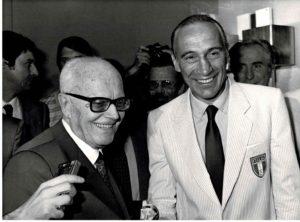 Pertini con Enzo Bearzot.