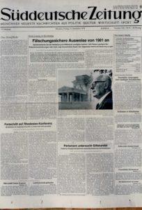 La visita di Pertini sulla stampa tedesca.