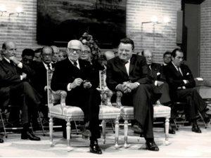 Pertini con Franz Joseph Strauss, presidente dei ministri della Baviera.
