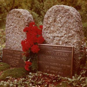 Flossenbürg. Lapide commemorativa del fratello di Sandro Pertini, Eugenio.