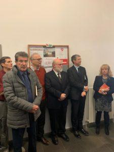 Con il prorettore, professoressa Sonia Carmignani, e il direttore della Biblioteca, dottor Francesco Poesini.