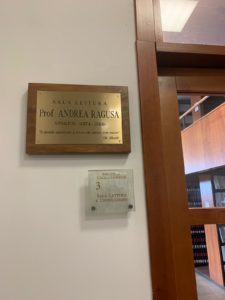 Intitolazione al prof. Andrea Ragusa della sala di lettura del Circolo Giuridico