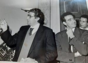 Prof. Maurizio DegI'Innocenti, Riccardo Nencini, oggi senatore, e Eugenio Giani, oggi Presidente del Consiglio della regione Toscana.